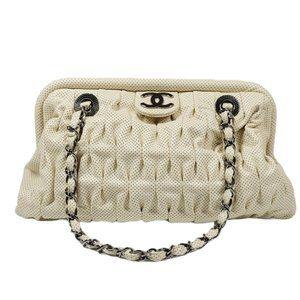 Chanel Cream Top Clasp Bag
